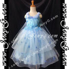 #PB9 Flower Girl Formal Pageant Dresses Gowns Blue 3 4 5 6 7 8 9 10 11 12 13 14