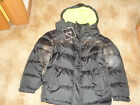 Vertical 9 Puffer Winter Ski Coat Hooded Black & Lime NWT