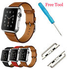 Leather Band Strap Single Tour Bracelet Watchband For Apple Watch iWatch 38/42mm