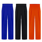 Womens Elegant Loose Business Casual Wide Leg Palazzo Pants Trouses S M L