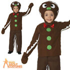 Kids Gingerbread Man Costume World Book Day Shrek Christmas Fancy Dress Outfit