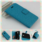 BLU Studio XL Case D850Q (2015)Luxury Leather Wallet Case Cover + Tempered Glass