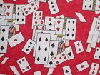 Alice in Wonderland Red Cards Quilting Fabric Cotton Fat Quarter By the Yard