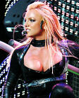 BRITNEY SPEARS BUSTY CLEAVAGE SWEATY BLACK LEATHER CONCERT PHOTO OR POSTER