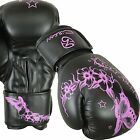 Billzan Pink Ladies Gel Boxing Gloves Bag Women Gym Kick Mitt Pads MMA Muay Thai