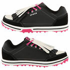 CROCS WOMENS KARLENE SPIKELESS GOLF SHOES NEW LADIES LEATHER WATERPROOF TRAINERS