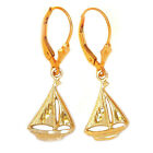 GAT HAWAIIAN SMALL SLOOP GOLD EARRINGS NAUTICAL, JEWELRY