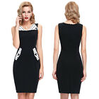 New Womens Wear To Work Business OL Evening Party Pencil Sheath Dress Plus Size