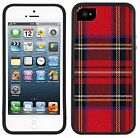 Red Plaid Tartan Handmade case - for iPhone / Galaxy / Note / Edge