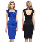 Womens Sexy 50s 60s Dress Formal Party Pencil Wedding Dress Size 4-18