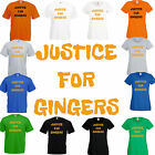 Justice for Gingers comic funny ginger hair joke T Shirt