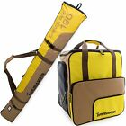 Yellow Brown Ski Bag Combo for Ski Poles,  Boots and Helmet - Limited Edition -