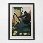 CANADIAN WWI POSTER - Vintage Canadian Victory Bond Poster -  Vintage Canadian W $19.95 USD on eBay