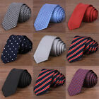 Men Skinny New Classic Jacquard Woven Wedding Hot Party Silk Necktie Tie Slim