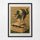 VINTAGE CAT POSTER - Smoking Tobacco Cat Print - Cat Lover Poster, Vet's Wall Ar
