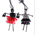 Doll Pendant Necklaces Bead Dress Long Chain Handmade Jewelry For Lover Gift Hot
