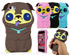 Pug Dog Puppy Pet Animal Silicone Rubber 3D Case Cover Skin For iPhone 5 5s 5c