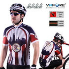 SPEG Illonois Chicago Mens Short Sleeve Cycling Jersey Full Zipper 100% Vapore®