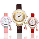 New Women's Girl's Ladies Casual PU Leather Band Wrist Watch Quartz Gift
