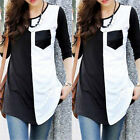 Women Summer Cotton Slim White Black Tops Long Sleeve Blouse Casual Vest T Shirt