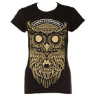 Official Asking Alexandria Skinny Fit Black Owl T Shirt - Band Merchandise