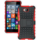 Microsoft Lumia 650 Dual Layer Shockproof Cover Hybrid Rugged Case w/ Kickstand