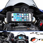Powered Motorcycle Fork Stem Extended Bike Mount + Case for iPhone 6 6s Plus 5.5