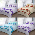Printed Duvet Cover Set With PillowCase Single Double KingSize Super King Floral