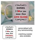 I NEARLY LOVE YOU MORE THAN MUG/COASTER CHRISTMAS BIRTHDAY VALENTINES DAY GIFT
