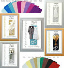 PERSONALISED Handmade Wedding Greetings Card, 5 Unique Deisgns Many Colours