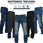 Mens Motorbike Jeans Motorcycle Denim Trousers Aramid Protective Lining Pants