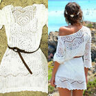 Sexy Women Lace Crochet Bathing Suit Bikini Swimwear Cover Up Beach Dress Tops