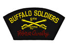 Embroidered Patch Buffalo Soldiers 9th 10th Horse Cavalry Military Hat Jacket