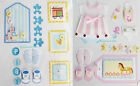 Paper Cellar 3D Baby Embellishments Toppers Motifs Effect Card Craft STK/04/0030