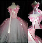 Girls Princess Prom Bridesmaids Flower Christening wedding formal ballgown dress