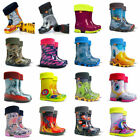 BOYS GIRLS KIDS CHILDREN WELLINGTON BOOTS WELLIES RAIN BOOTS Brand New