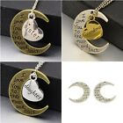 Tibetan Style I love you to the Moon and Back Pendants 4 to choose from