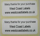 Printed Personalised White Address Labels - 40mm x 10mm on Rolls
