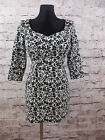 Bravissimo Floral Jersey Cotton Tunic in Black&White RRP £55 (72)