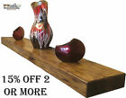 Thick Chunky Wooden Rustic Solid Floating Shelf Shelves  Mantel 6cm