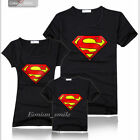 Superman Lovers MOM DAD Kids Family Summer T-Shirt Set Lycra Cotton E-WE6200