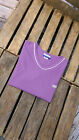 Reebok Ladies/Women`s Short Sleeve T-Shirt Top in PURPLE COLOUR