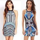 Summer Women Sexy Sleeveless Floral Print Beach Party Cocktail Casual Mini Dress