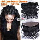 Virgin Human Hair Lace Frontal Closures Brazilian Body Wave Ear To Ear Extension
