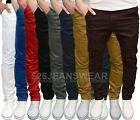 Enzo Mens Designer Branded Slim Fit Stretch Chino Jeans, Available in 6 Colours