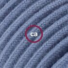 Blue Cotton Round - 122ft Roll Cloth Covered Round Wire