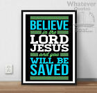 Jesus Christ Life Bible  Positive Poster Picture Print Christian Messiah Quote