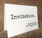 10 x Personalised Wedding Day & Evening Invitations & Envelopes
