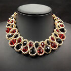 Lady Fashion Charm Pendant Chain Crystal Chunky Choker Bib Statement Necklace