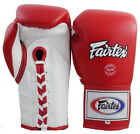 FAIRTEX MUAY THAI KICK BOXING GLOVES BGL6 RED WHITE SPARRING PRO COMPETITION